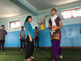 Dance Therapy at Transit Home in creative activities