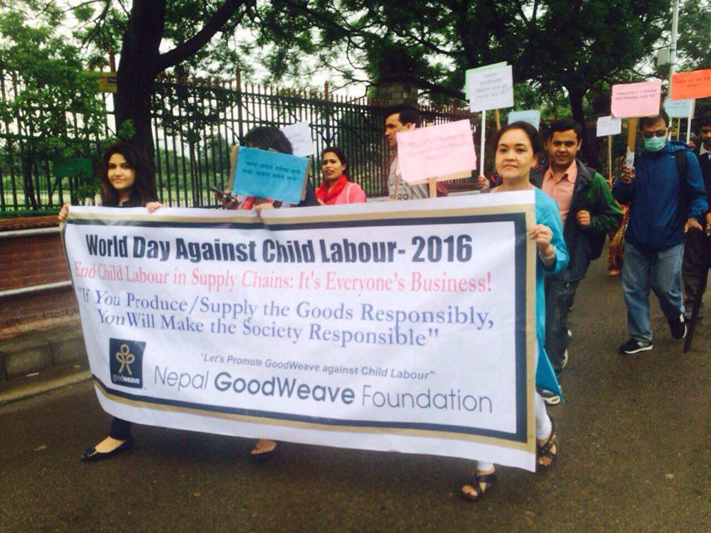 NGF Staff on- rally on World day against child Labour 2016 2