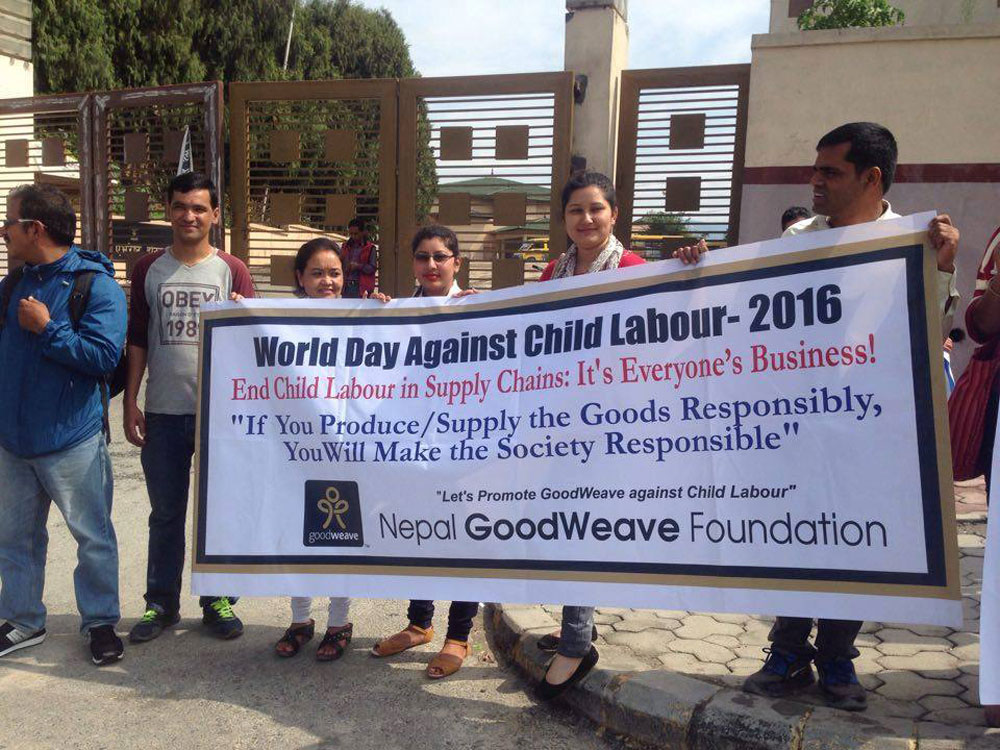NGF Staff on- rally on World day against child labour 2016 1