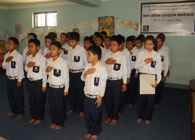 Welcom Song by GW Children during World Day Against Child Labour 2013