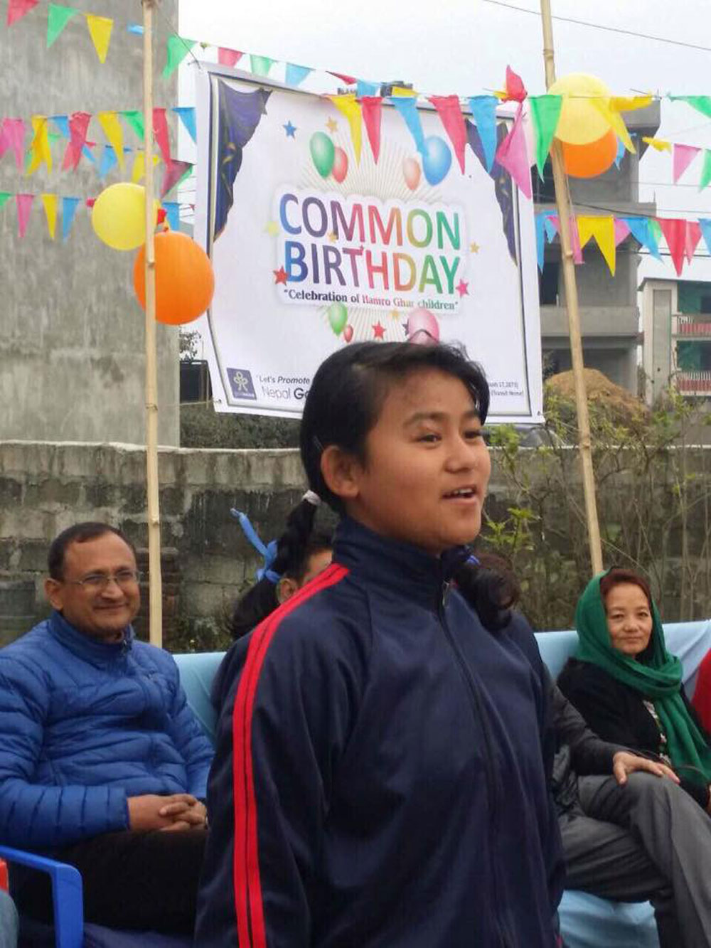 Child performing on common-birthday celebration 2017